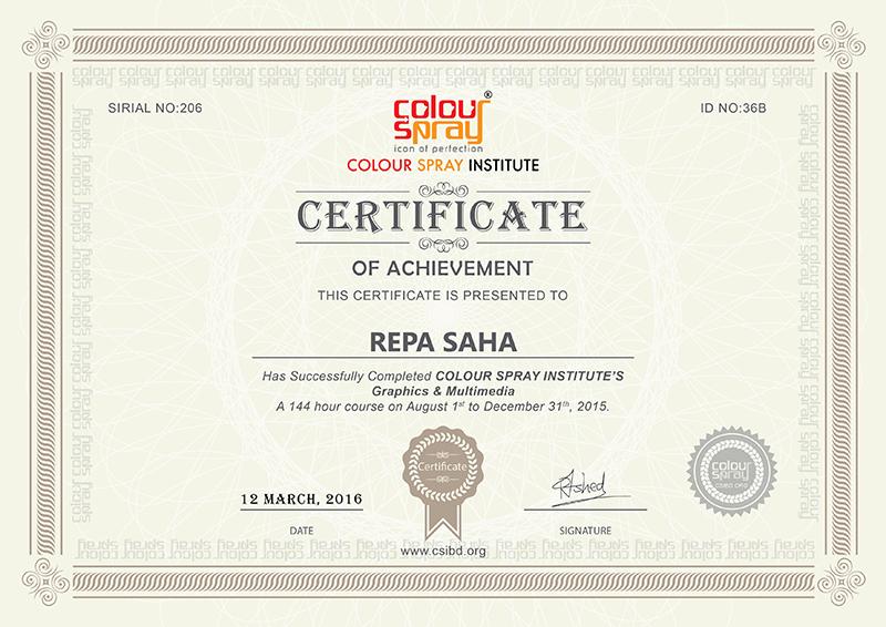 Certificate of Repa Saha